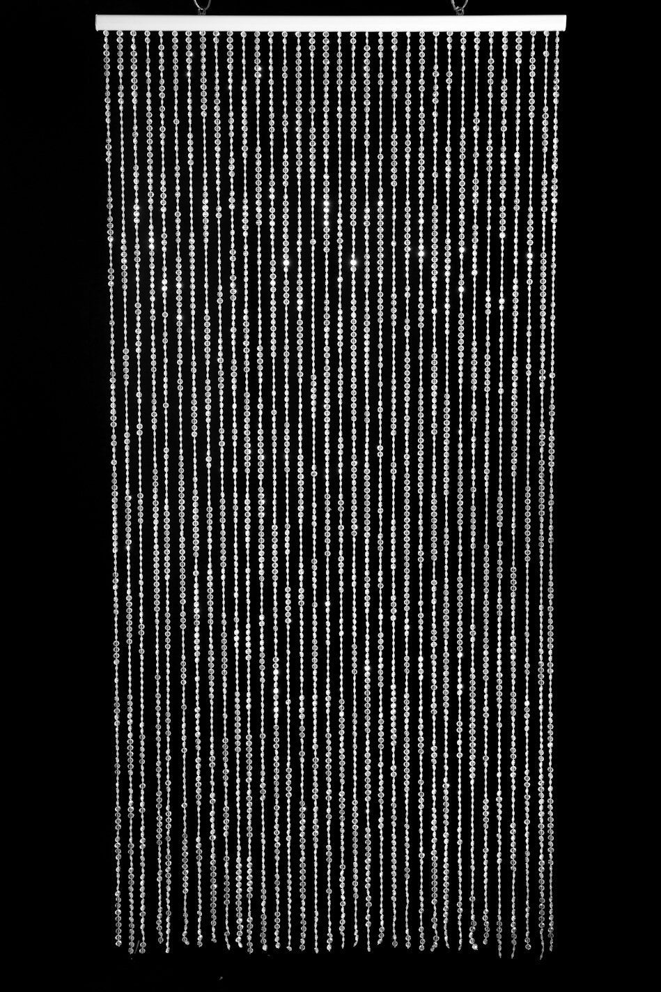 Amazon Com Shopwildthings Beaded Curtain Raindrops Glow In The Dark White Acrylic Door Beads Blacklight