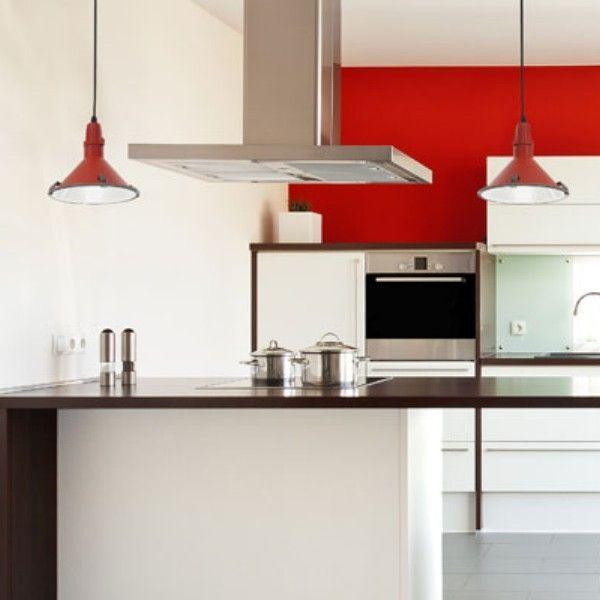 Lámpara | cocinas | Pinterest | Cocina roja, Barra de bar y Lámpara ...