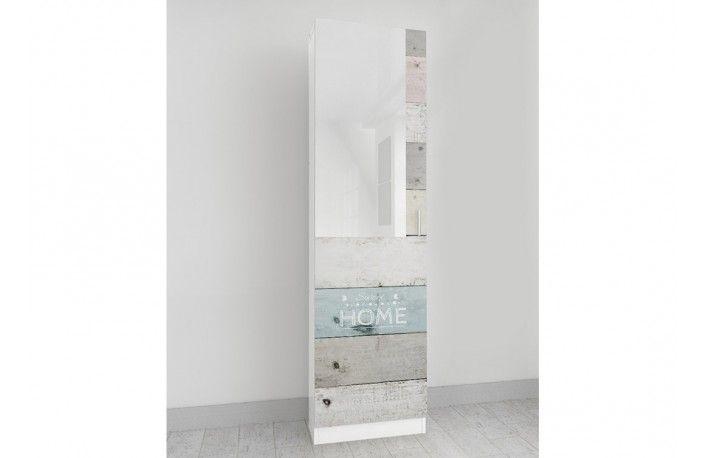 Mueble zapatero serigrafiado madera vintage tonos pastel for Muebles de madera baratos online