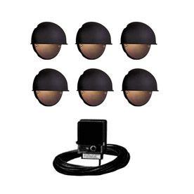 light black low voltage incandescent deck lights landscape light kit