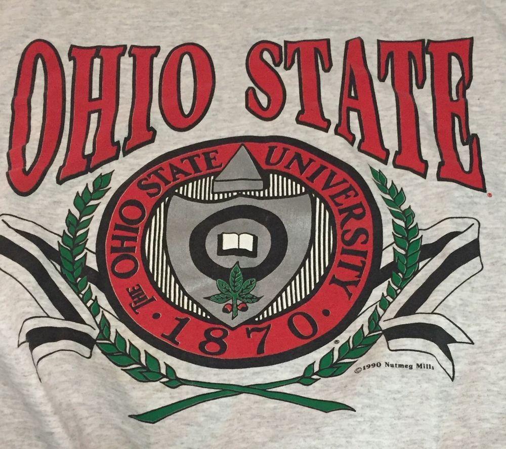 Vintage Ohio State University Large Gray Nutmeg Sweatshirt NCAA #Nutmeg #OhioStateBuckeyes