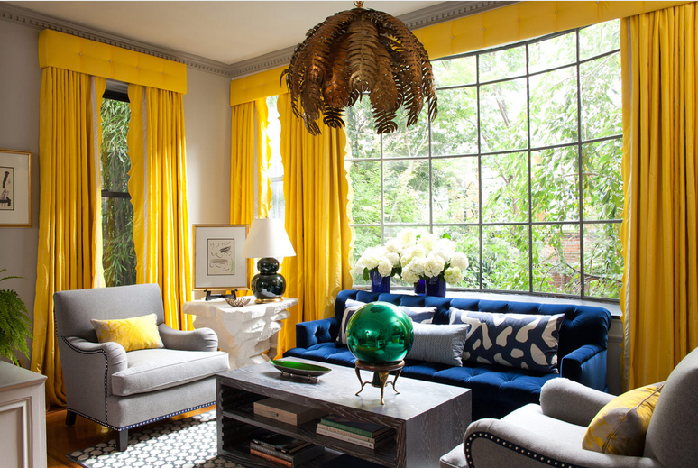 Anamda Nisbet Design Loooove That Royal Blue Yellow Curtains Living Room Yellow Living Room Blue Living Room #royal #blue #decor #for #living #room
