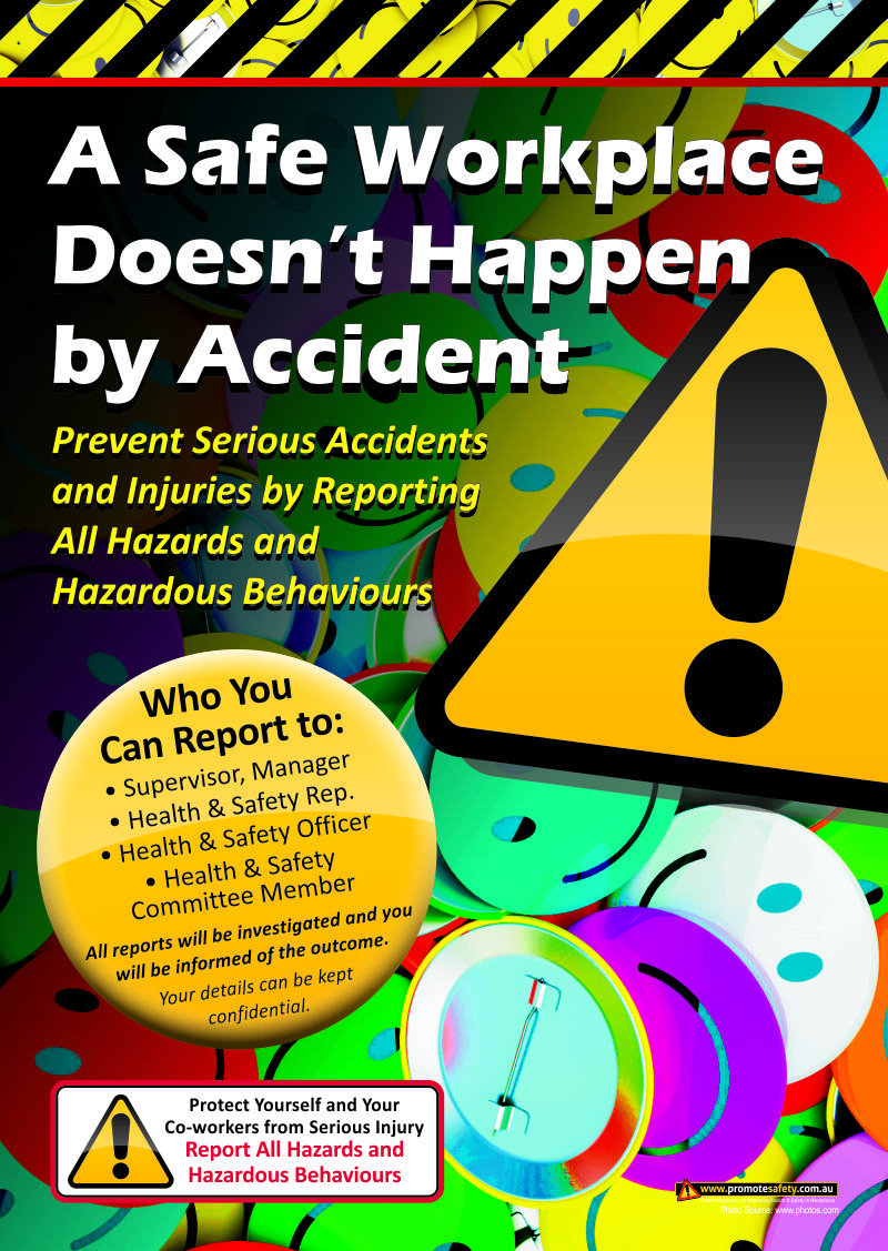 report accidents workplace safety poster a size safety poster report accidents workplace safety poster a3 size safety poster