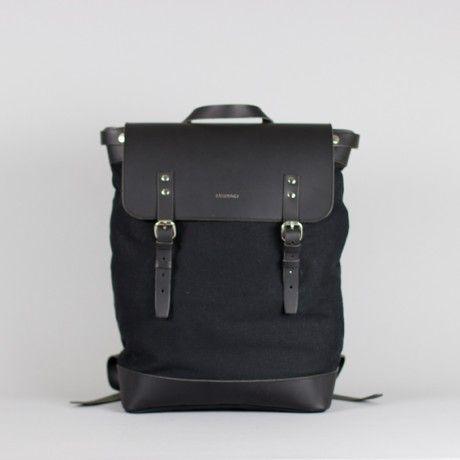 Crazy About This Sandqvist Hugo Black Backpack #allblackeverything