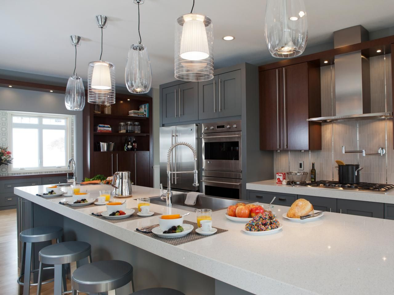 Gray Kitchens, Bathrooms and More | Hgtv, Gray kitchens and Kitchens