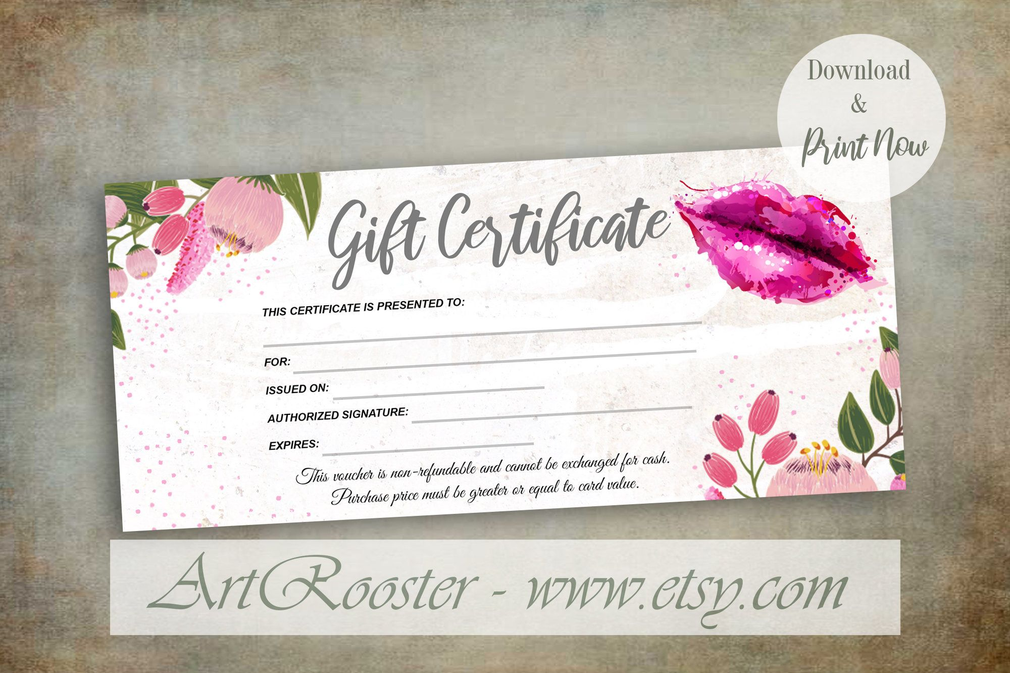 Giftcertificate Printablegiftcertificate Printablegiftcertificatetemplat Gift Card Template Photography Gift Certificate Template Printable Gift Certificate