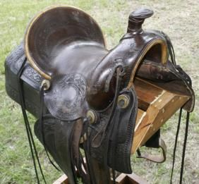 Antique Plantation Saddle | 256 saddle high back old high back
