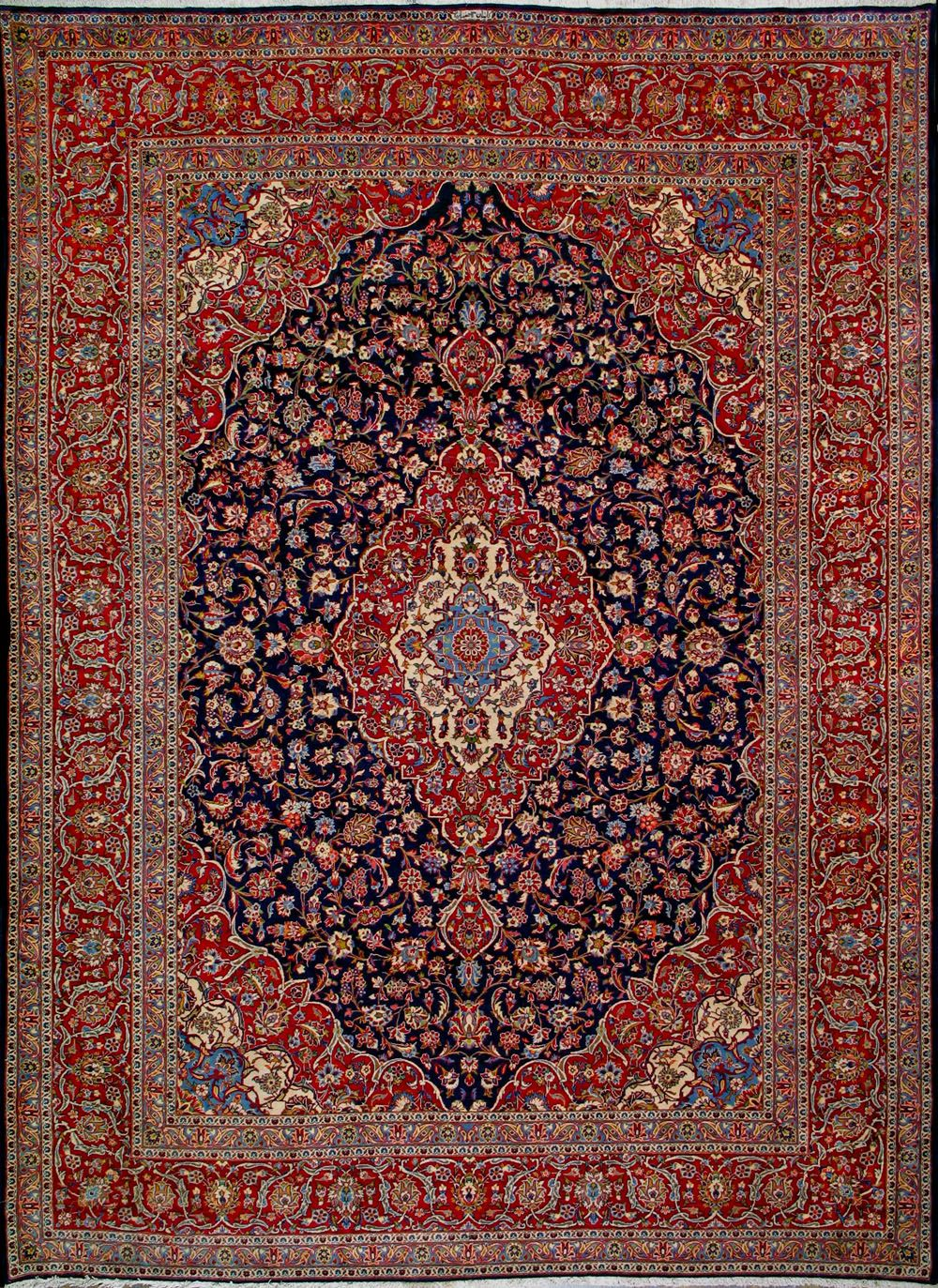 Buy Kashan Persian Rug 9 39 11 Quot X 13 39 5 Quot Authentic Kashan Handmade Rug Persian Rug Patterned Carpet Rugs