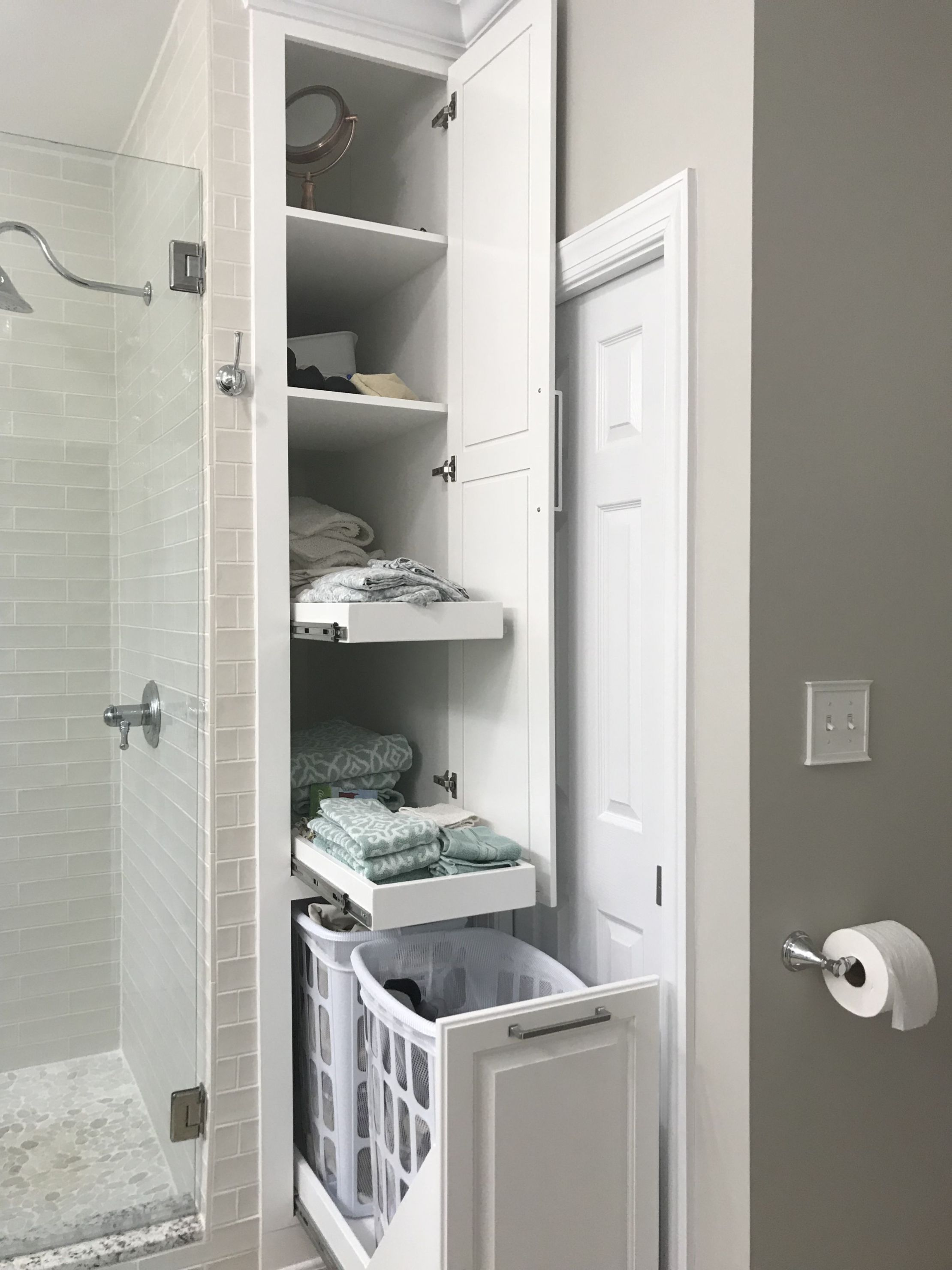 55 Bathroom Storage Solutions For Small Space Bathroom Storage Solutions Bathroom Remodel Master Small Bathroom