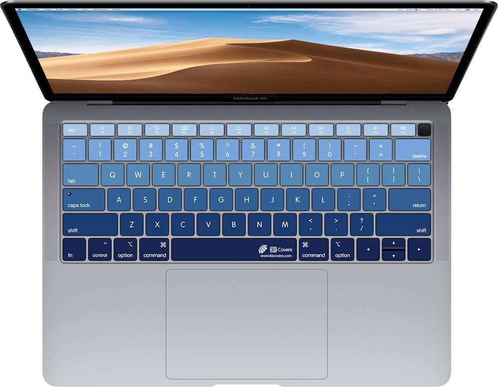 Kb Covers Keyboard Cover For Apple Macbook Air 13 With Touch Id Deepblues Mt Best Buy In 2021 Apple Macbook Air Apple Keyboard Cover Macbook Air Keyboard Cover