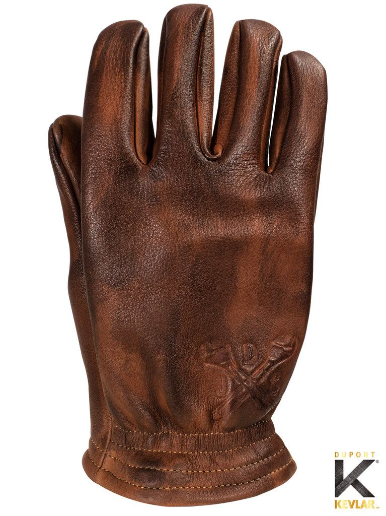 BILTWELL INC BROWN LEATHER RETRO CLASSIC VINTAGE MOTORCYCLE CHOPPER GLOVES