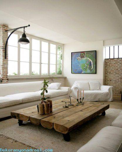 Industrial Home Design Endüstriyel Ev Tasarımları: Cool Ahşap Orta Sehpa Tasarımları 2016