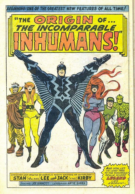 The origin of... the incomparable Inhumans!