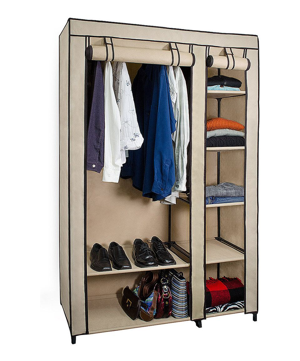 Look at this #zulilyfind! Tan Wardrobe Closet & Shelving by Home Collections #zulilyfinds