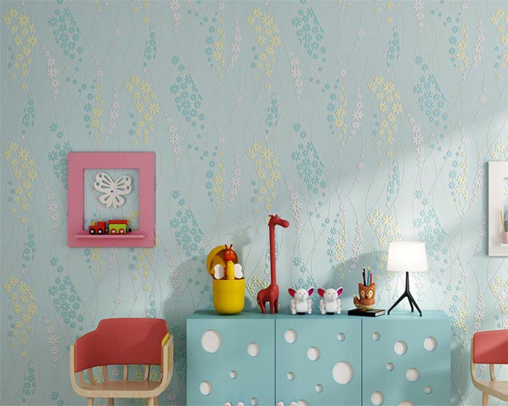 Beibehang 3d wallpaper embossed embossed wallpaper living room bedroom background home decoration pastoral murals wallpaper 3d