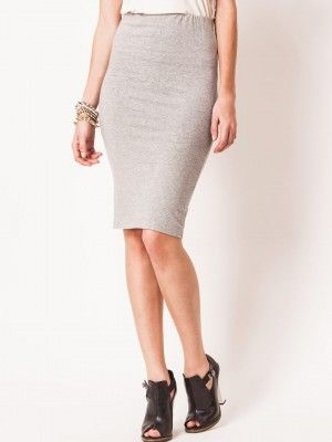 9336ae076 KOOVS Jersey Pencil Skirt buy from koovs.com Skirt Online, India, Midi Skirt