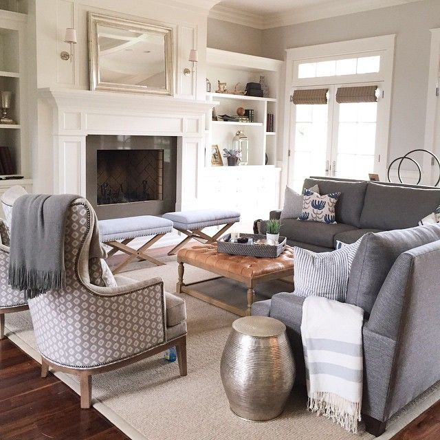 Cozy family room install today for the sweetest client with a beautiful home! @schumacher1889 @wisteria @gatehouseno1 @stevetiek