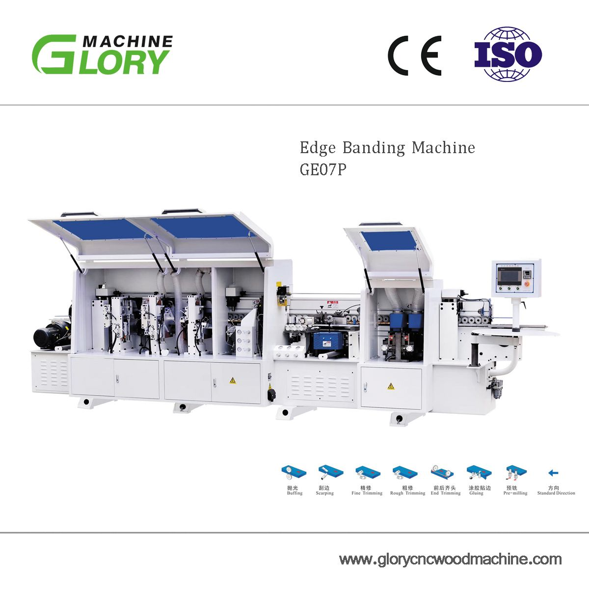 Edge Banding Machine GE07P | Glory Woodworking Machine