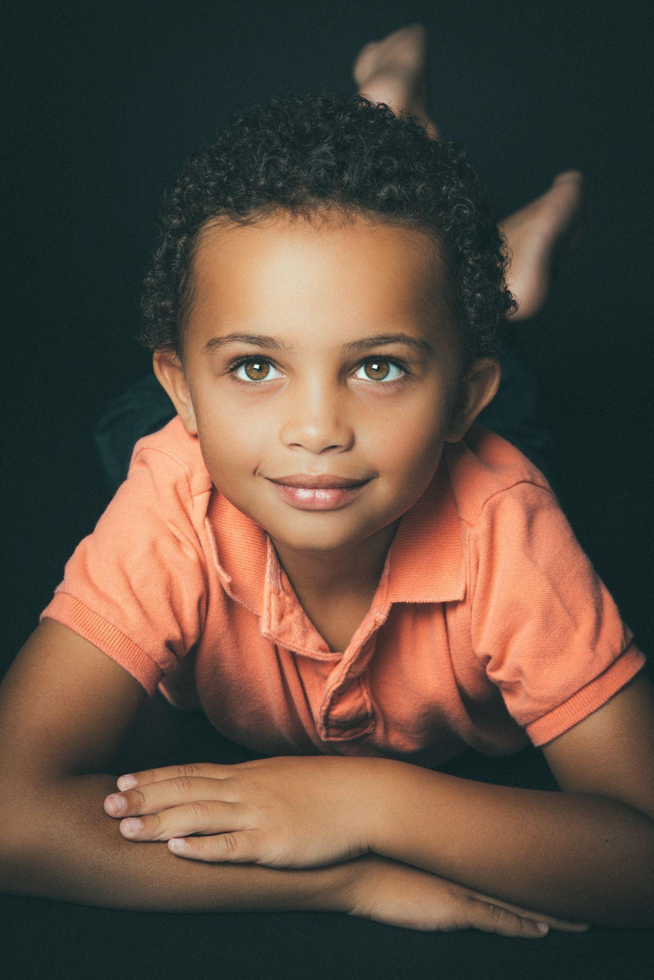 Child photography indoor studio photoshoot