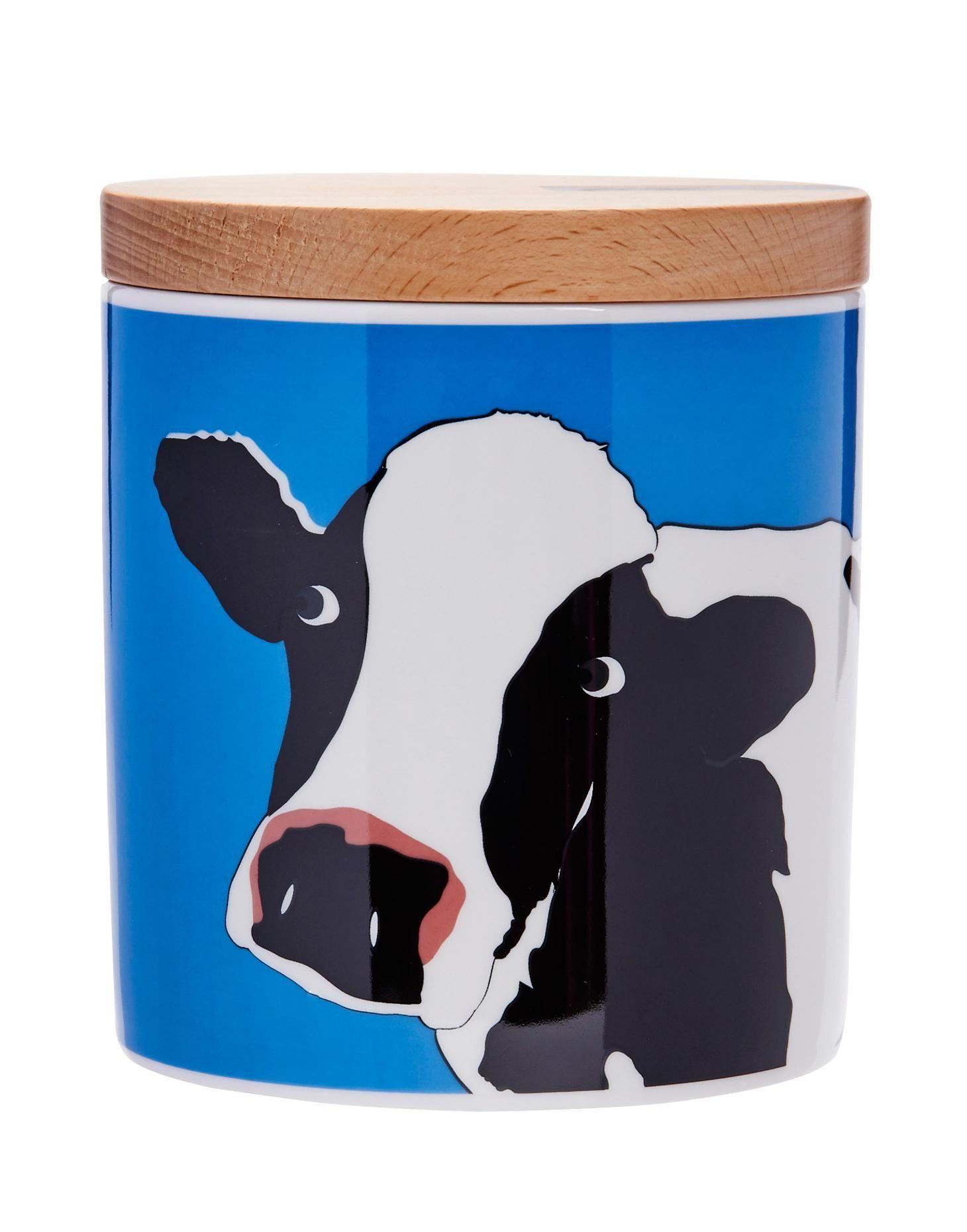 Joules Animal Ceramic Storage Jar Cow If Your Tea Bags Coffee
