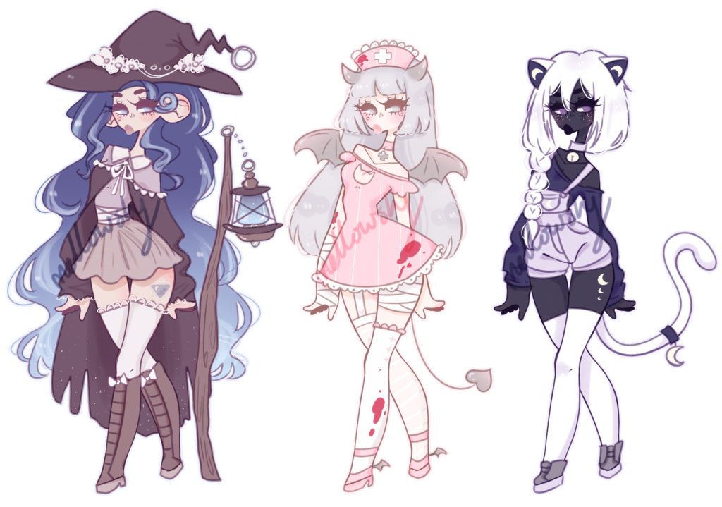 Halloween adoptables [CLOSED] by mellowshy | ♥Character ...