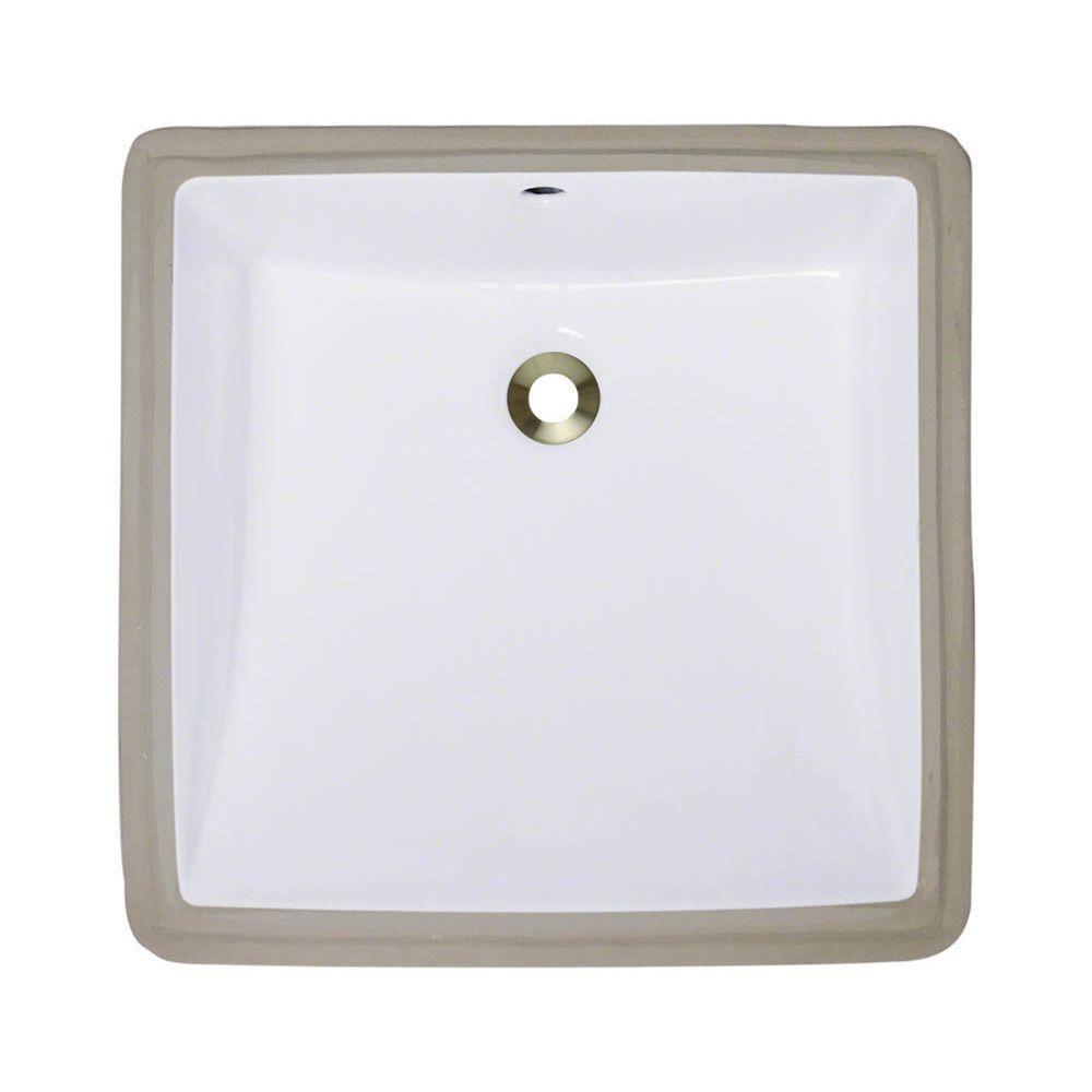 Polaris Sinks Undermount Porcelain Bathroom Sink In Bisque P0322u