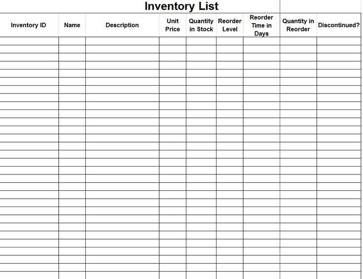 Image Result For Perpetual Inventory Templates For Jewelry Makers