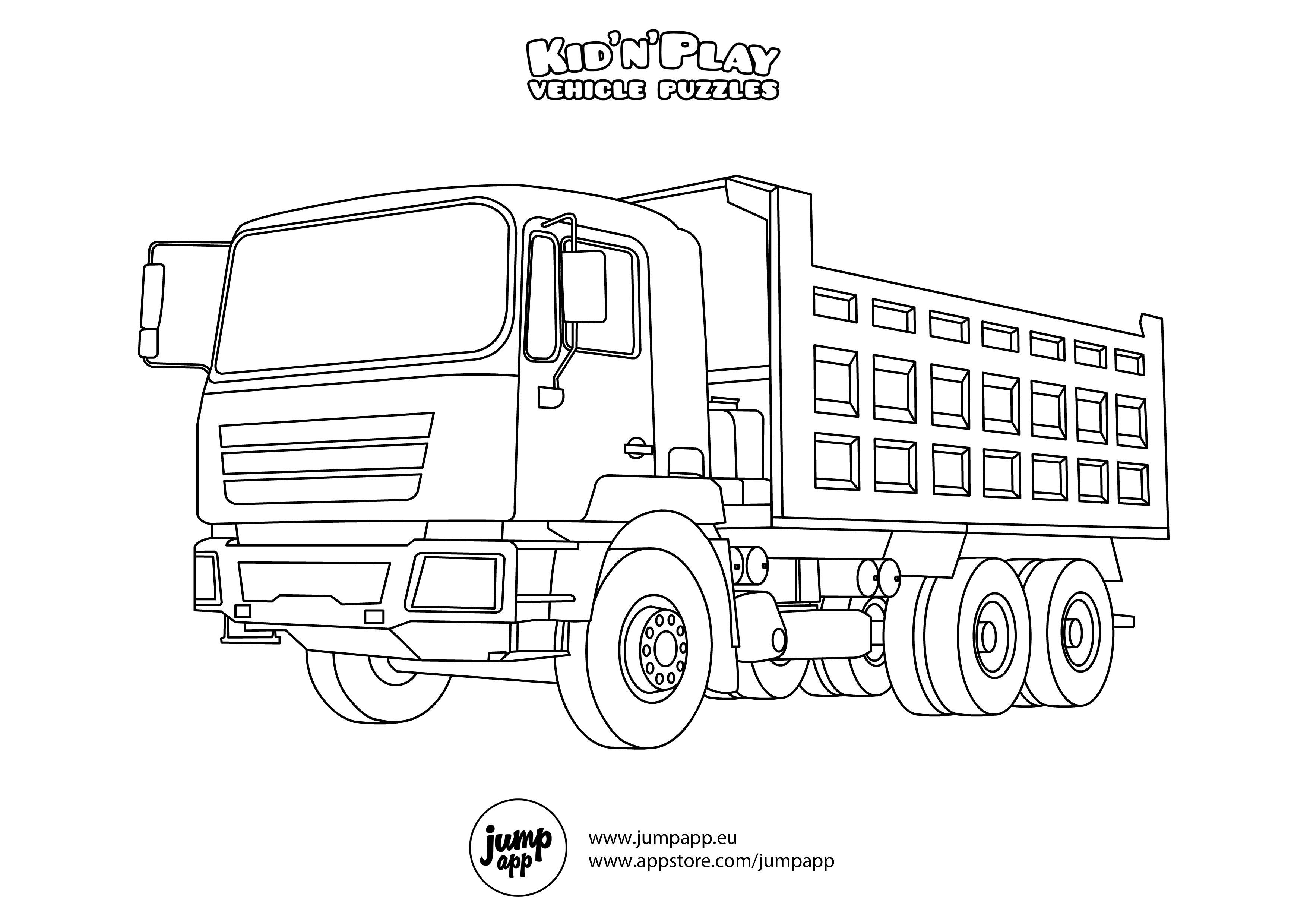 Kleurplaat Vrachtwagen Daf • Kidkleurplaat.nl