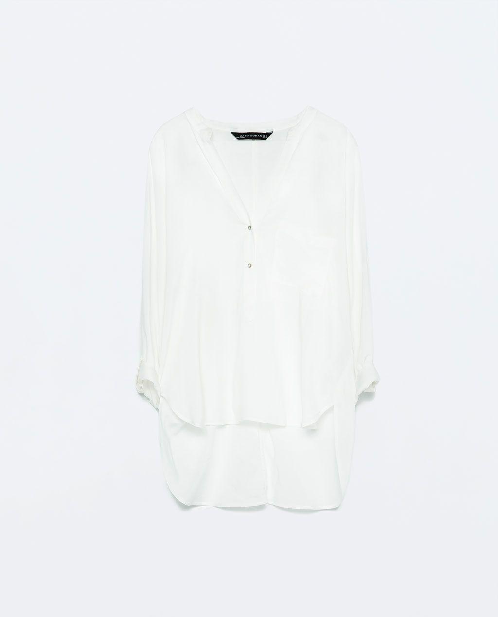 Desigual Blusa Mao Zara Camisas Bbva España Mujer Cuello Largo txq4FO