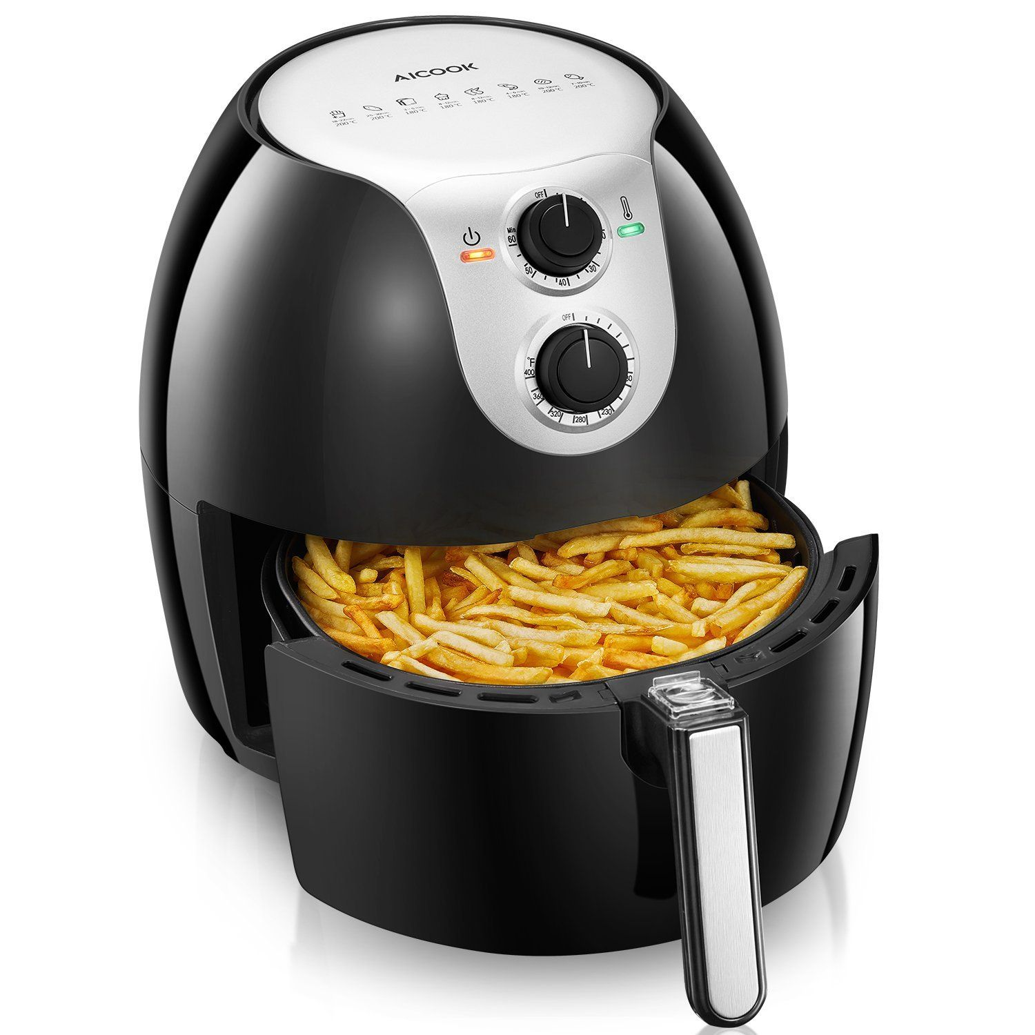 Air Fryer Aicook 5.8Qt Large Air Fryer 8in1 Programmable