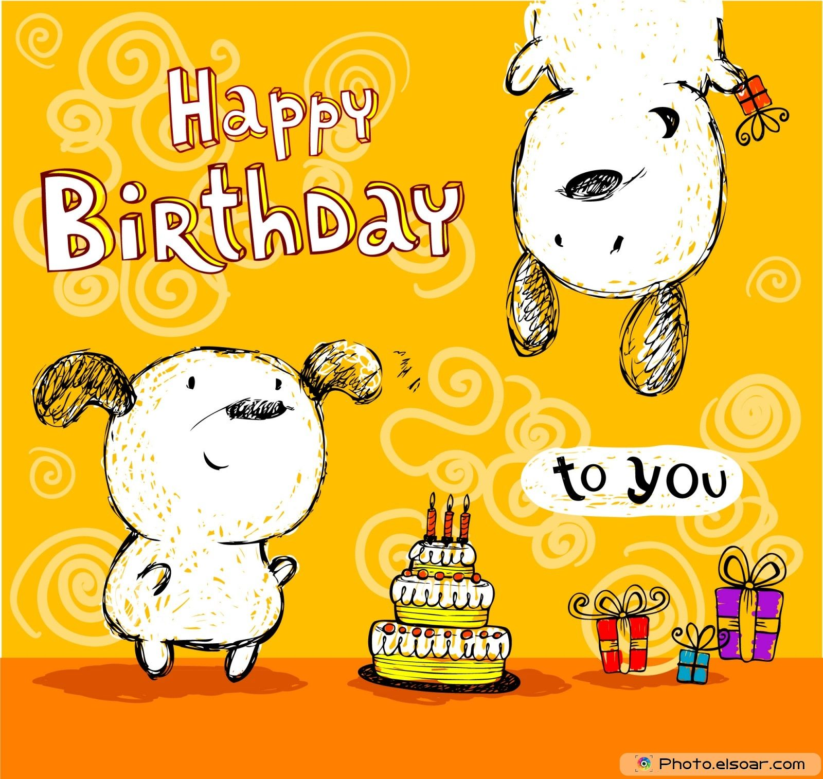 Happy Birthday to you card friends