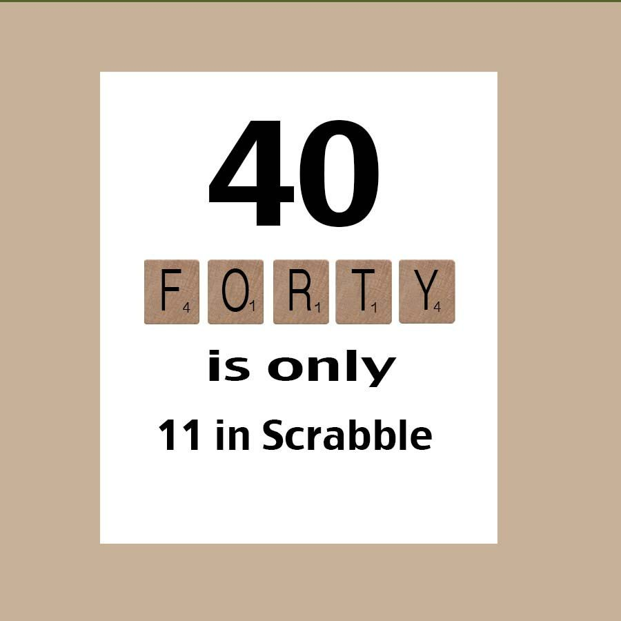 Besondere geburtstagskarte zum 40