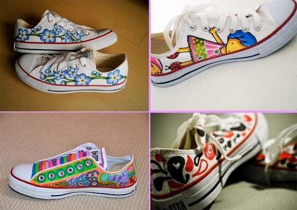 pintura para zapatillas converse