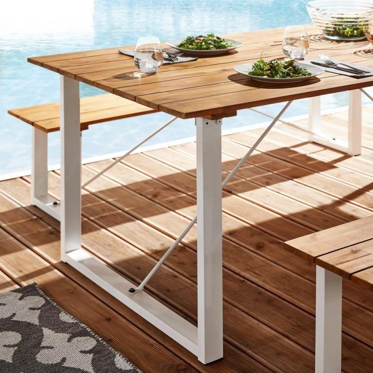 Gartentisch Leonor 180x90cm Aus Akazienholz Moebel Liebe Com Gartentisch Gartentisch Holz Metall Gartentisch Holz