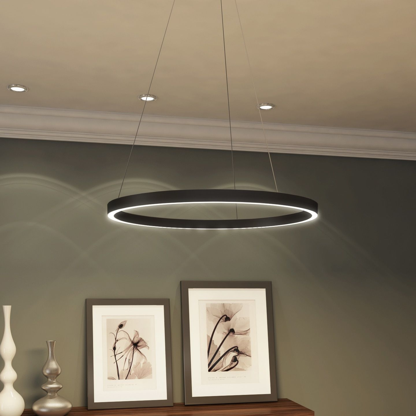 Vonn Lighting 24 In Led Chandelier Modern Circular