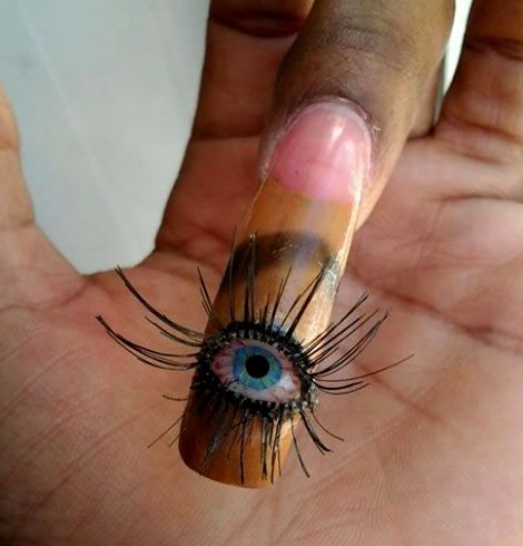 Eye Ball 3 D Nail Art For Halloween Nails Pinterest Eye 3d