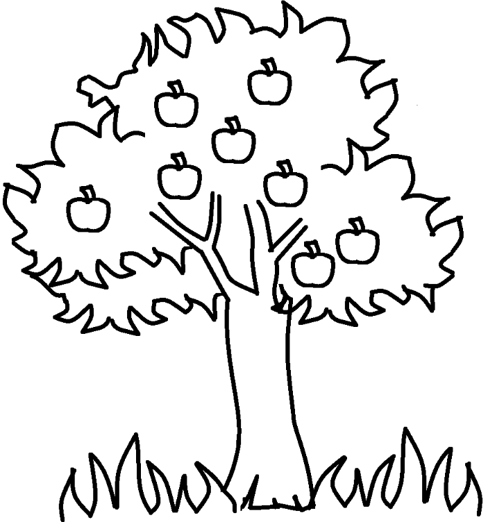 Apple tree coloring pages Kids Colouring Pages Pinterest Toy