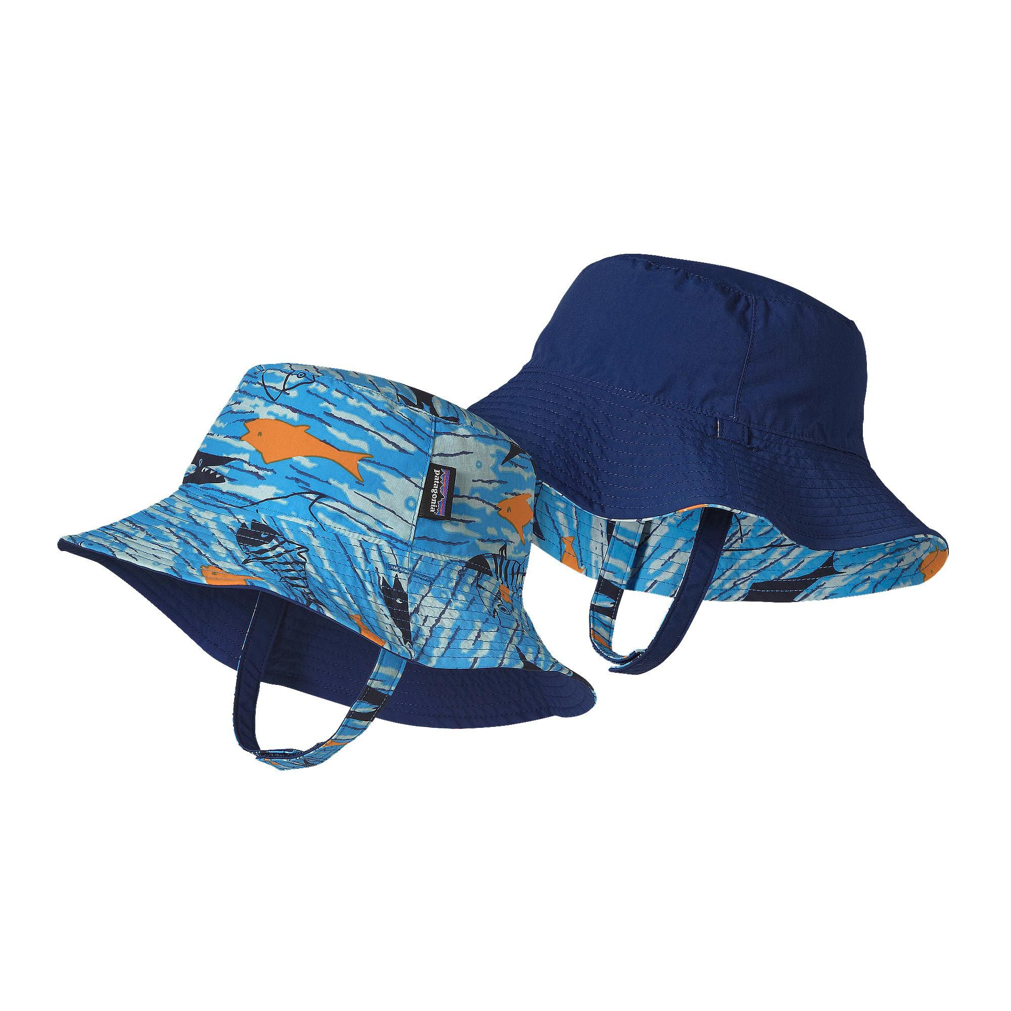 45361f45 The Patagonia Baby Sun Bucket Hat offers 50+ UPF sun protection and fun  reversible colors and prints for all-day fun in the sun.