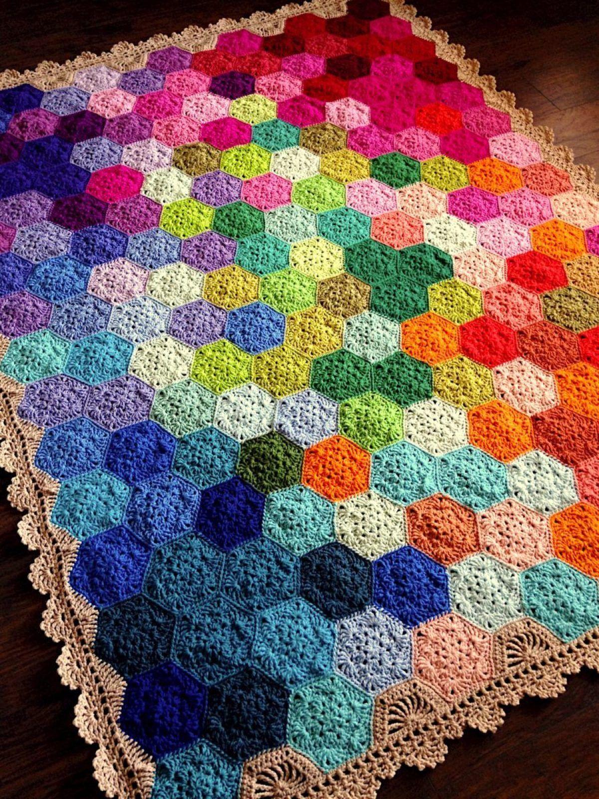 Geometric Lace Blanket Crochet Pattern For Beginners