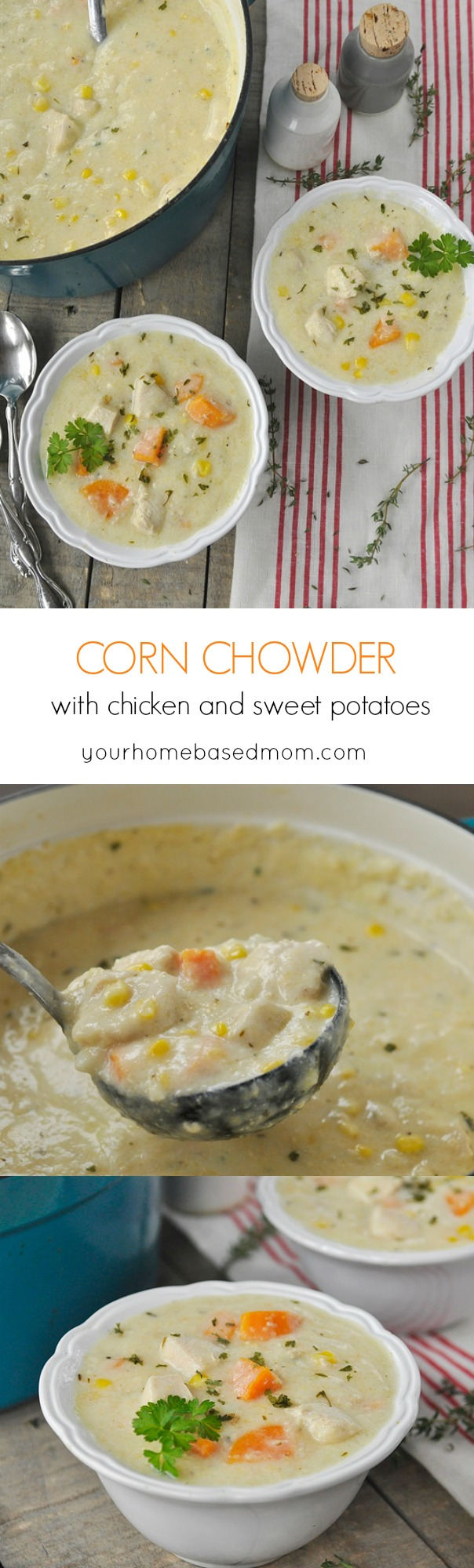 Corn Chowder with Chicken and Sweet Potatoes