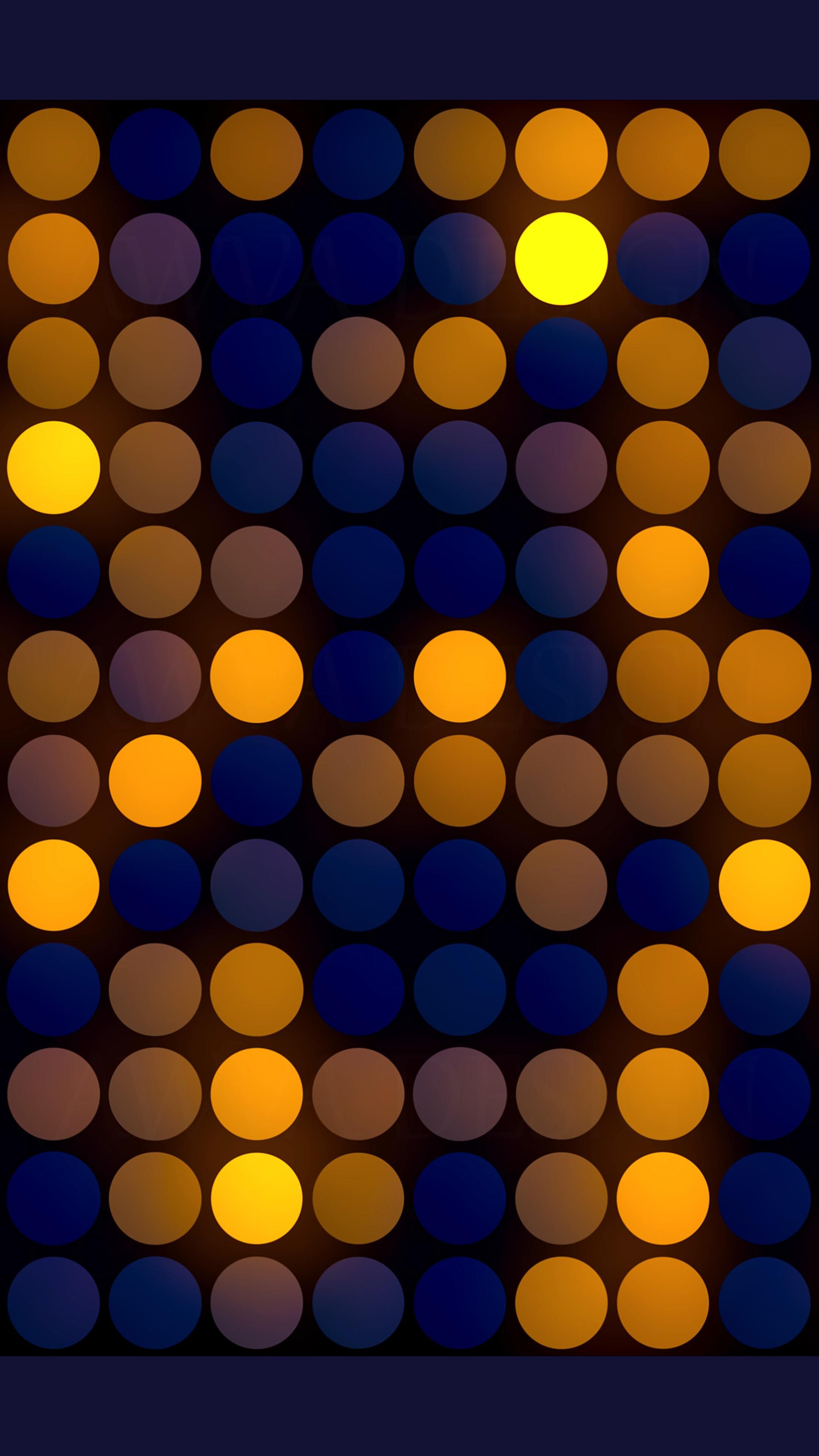 Abstract Christmas background with colorful bright circles.