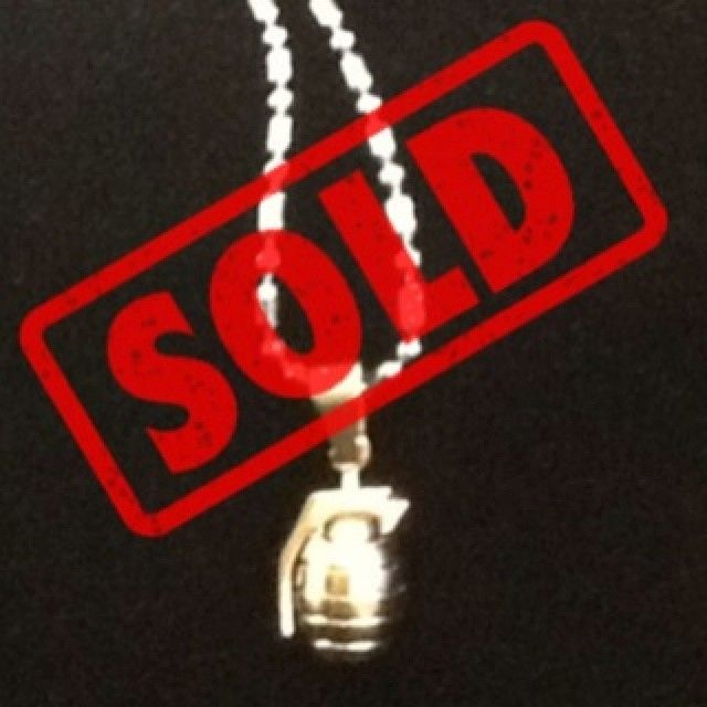 "#BourgeoisCo | #SoldOut | Congratulations to @alleyboy2020 on #instagram for purchasing our unique custom ""#BOMB"" #grenade necklace & pendant set on #Etsy!"