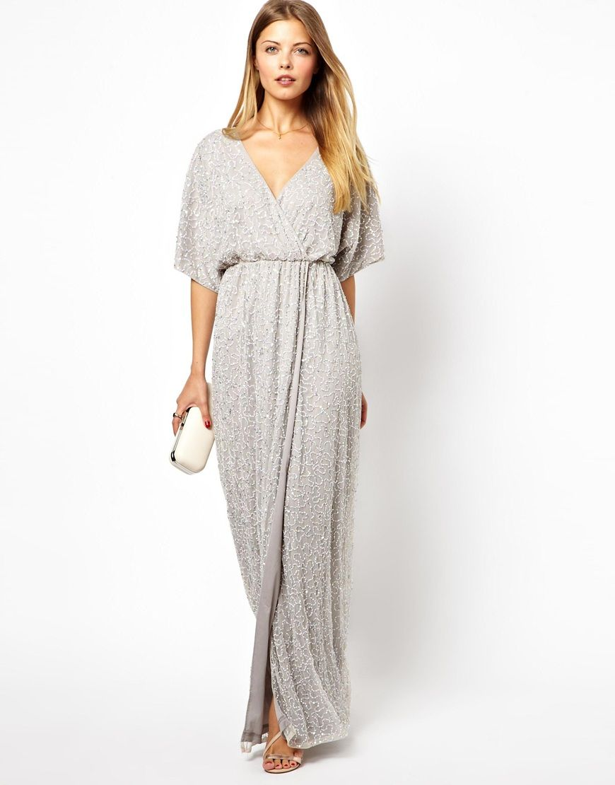 Embellished Kimono Wrap Maxi Dress in 2019  2f82bbe42
