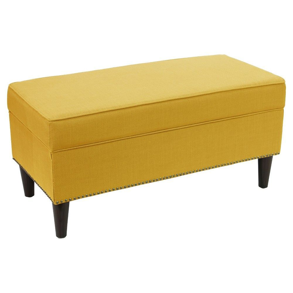 Swell Arcadia Upholstered Nail Button Storage Bench French Caraccident5 Cool Chair Designs And Ideas Caraccident5Info