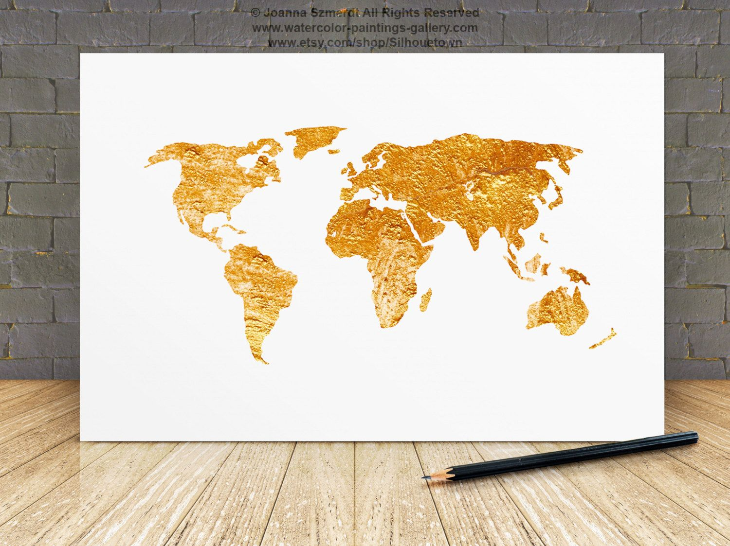 World map gold painting map silhouette large poster room decor world map gold painting map silhouette large poster room decor silhouette gumiabroncs Images