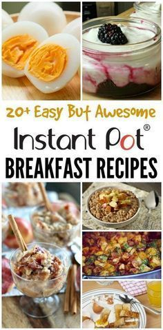 Instant pot makes every recipe easier! Make breakfast time less hectic for your family with these quick and easy recipes in the instant pot!  Eggs, potatoes, oatmeal and more that the family will love when they need breakfast fast! Check out these easy and delicious breakfast recipes made in the instant pot! #instantpot #easyrecipes #breakfast #instantpotrecipes #recipes