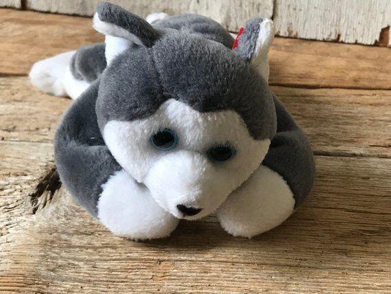 Vintage Plush Beanie Baby Husky Dog Nanook  1996 #babyhusky