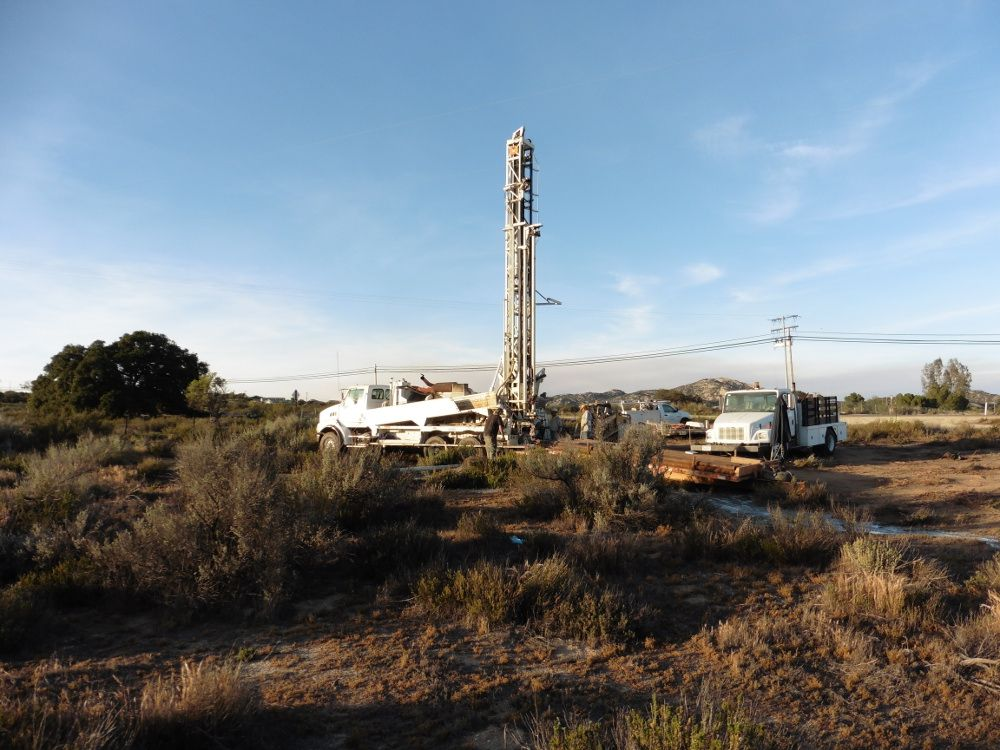 Drilling the well in Campo, CA- New location