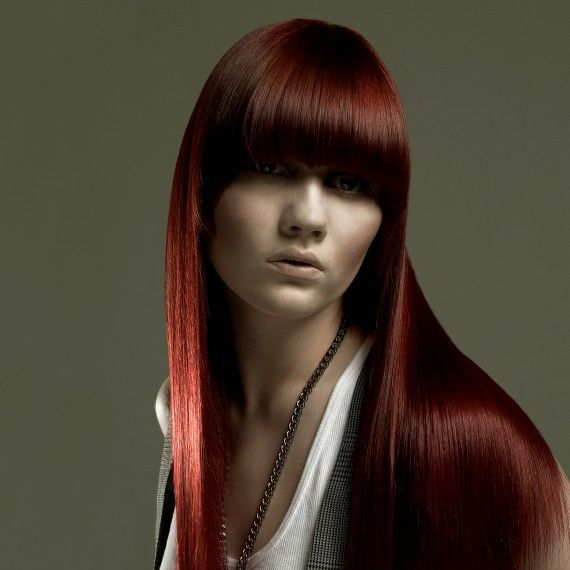 Red Hairstyles For 2015 | Red hair with bangs, Red hair