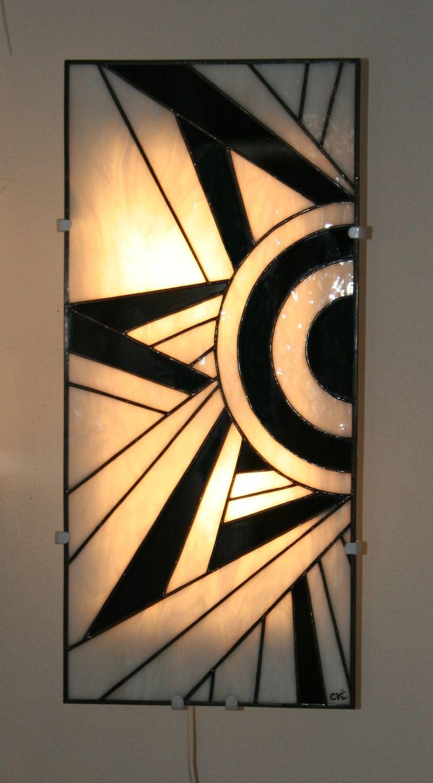 applique murale vitrail tiffany art d co ycara luminaires par lumieretvitrail vitrail and. Black Bedroom Furniture Sets. Home Design Ideas